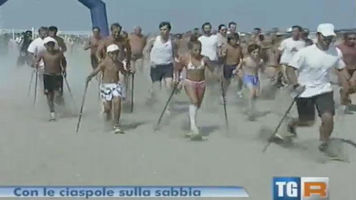 Dalle vette alle spiagge: gara benefica di Ciaspole sulla sabbia